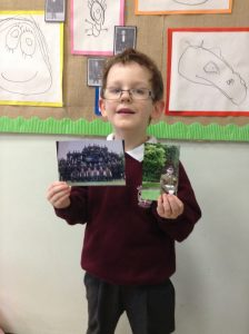 Some of the children in our class brought in photographs of soliders that they knew